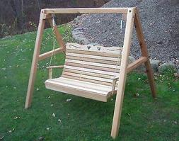 Wooden Furniture Cedar Royal Country Hearts Porch Swing W/ S