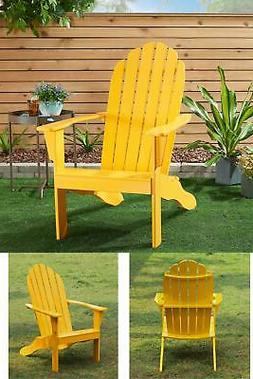 Wooden Outdoor Adirondack Chair Patio Porch Solid wood Backr