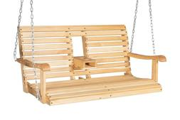 Wooden Porch Swing Outdoor Patio Hanging Bench Garden Seat w