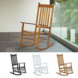 Wooden Rocking Chair Porch Rocker Balcony Deck Outdoor Garde