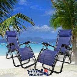 Outdoor Zero Gravity Texteline Chairs Folding Porch Patio Re